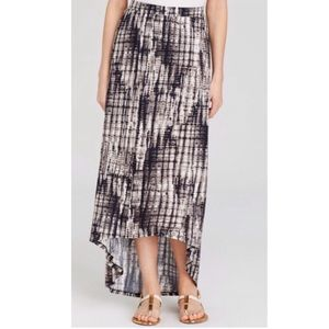 Soft Joie Black Tie Dye Stina Hi Lo Maxi Skirt